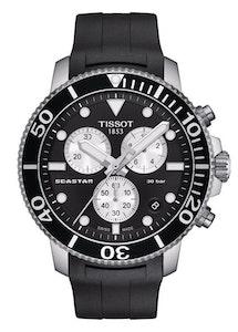 Tissot Seastar 1000 Chronograph - Black with Rubber Strap