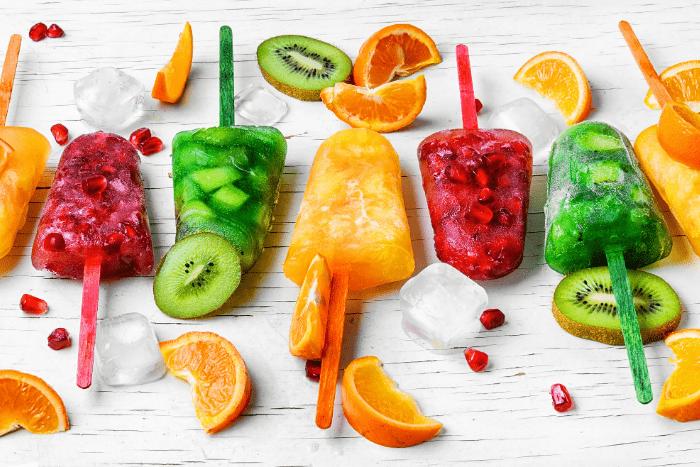 Eis-aus-echten-Früchten