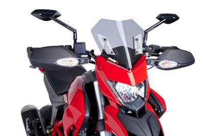Puig New Generation Sport Screen To Suit Ducati Hypermotard 821/SP/939/SP (Black)