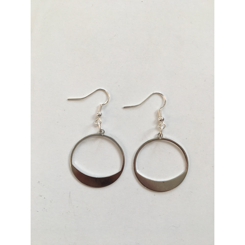 One of a Kind Club Silver Circle Earrings