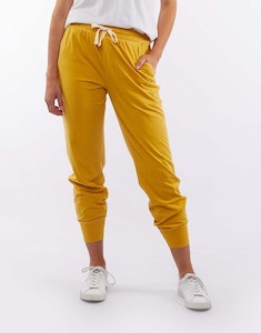 ELM WASH OUT LOUNGE PANT - Mustard