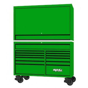 "Roller Cabinet Power Top Hutch 59"" USA GREEN/BLACK SP44740G"