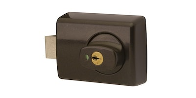 Lockwood 001 Double Cylinder Deadlatch with Knob for Timber Framed Doors Finished in Brown