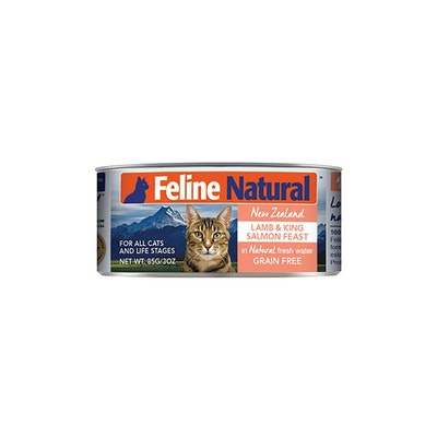 FELINE NATURAL Canned Lamb And Salmon 85G