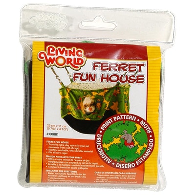 Living World Ferret Fun House Green 25cm