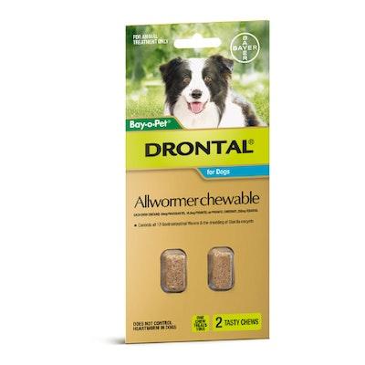 Drontal Chewable Intestinal Wormer Medium Dog