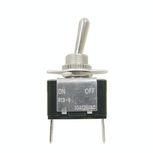 LV Toggle Switch 20amp On / Off SPST 2 Blade