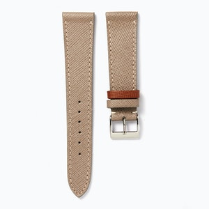 Time+Tide Watches  Cream Elegant Leather Watch Strap