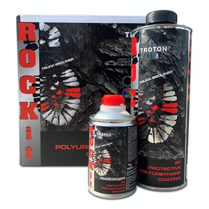 Troton ROCK iT 2K Bed Liner Urethane Coatings Kit - 4 x 840ml Cans with Hardeners