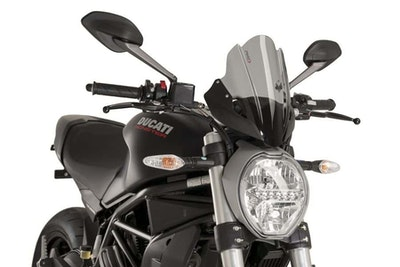 Puig New Generation Touring Screen To Suit Various Ducati Monster Models (Dark Smoke)