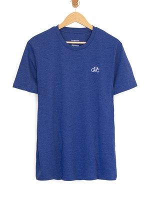 The General Classification GC Wheels Logo embroidered Tee Heather Blue