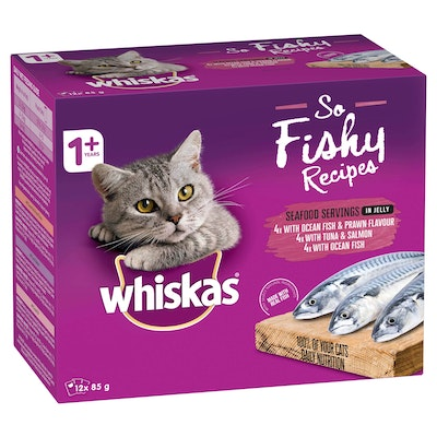 Whiskas Adult So Fishy Seafood in Jelly Wet Cat Food