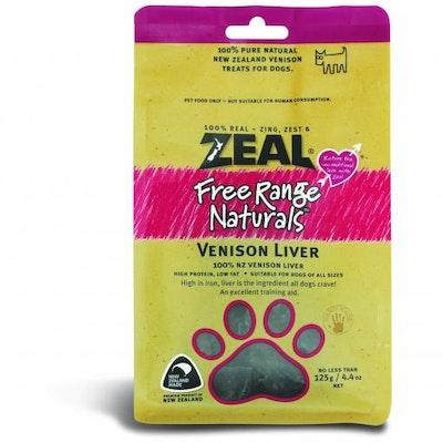 ZEAL FRN Zeal Free Range Naturals Venison Liver Dog Treats 125G