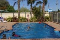 Solar heated pool courtesy Beachlands