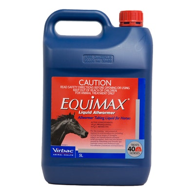 Virbac Equimax Liquid Oral All-Wormer Tapeworm Roundworm Horse 5L