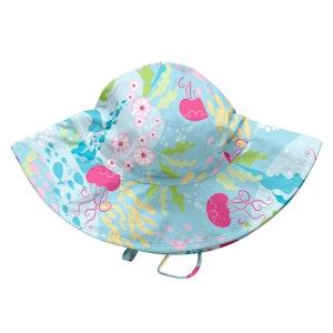 i play. Fun Brim Sun Protection Hat-Aqua Coral Reef