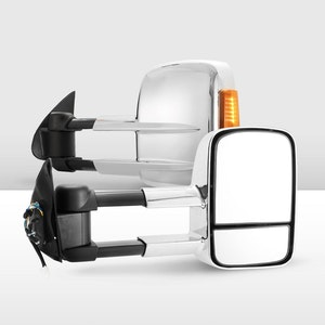 Pair Extendable Towing Mirrors for Toyota Hilux 2005-2015 w/ Indicators Pair