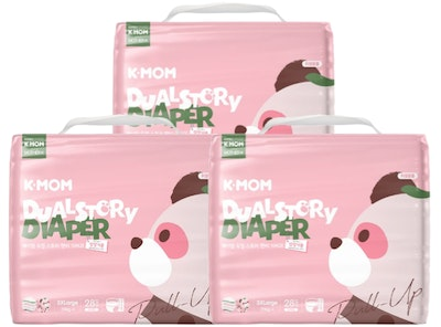 K-Mom Dual Story Diapers/Nappies Pants Size XXXL 19kg and up - 3 packs (84pcs)