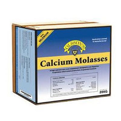 Olsson Calcium Molasses Salt Lick Livestock Feed Supplement 20kg