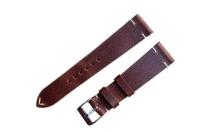 Artisan Straps - Renwick Two-Stitch Strap in Brown