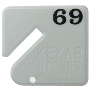 HPC Key Cabinet Tags Numbered 21-40