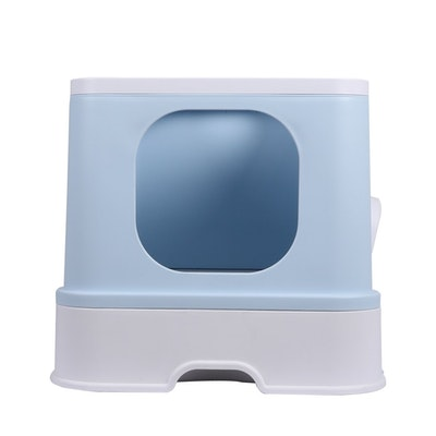 House of Pets Delight Fully Enclosed Kitty Toilet Basin in Blue
