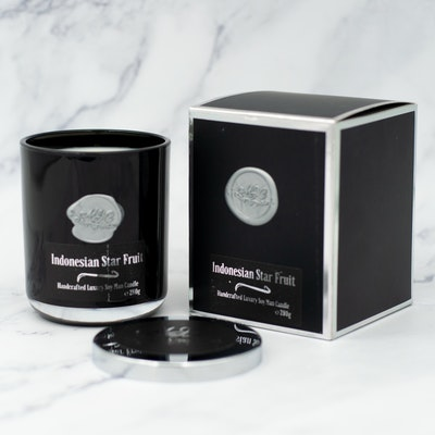MoeJoe Creations 290g/10.2oz Indonesian Star Fruit Scented Man Candle in Black Tumbler 2021