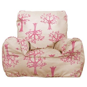 Play Pouch Pink Orchard Bean Chair