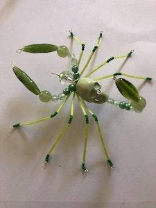 Handmade By Bronzerose Green Scorpion