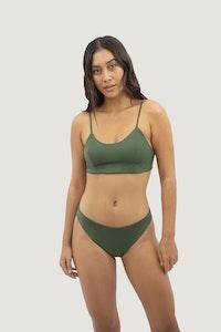 1 People Canggu Low Waist Bikini in Seaweed Green