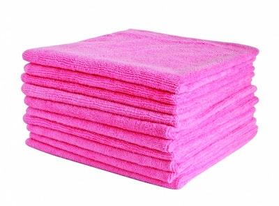 Microfibre Polishing Cloth 40 x 40cm Pink - Each