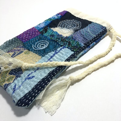 Karhina Slow Stitching Patchwork Pouch - slow down and enjoy the making