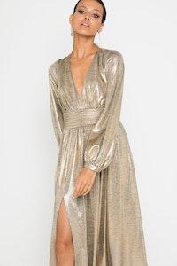 MOSSMAN The Golden Era Dress Gold