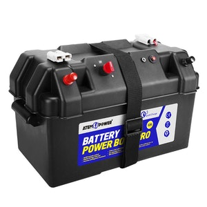 Battery Box 12V Quick Charge Portable Deep Cycle AGM Large Marine USB