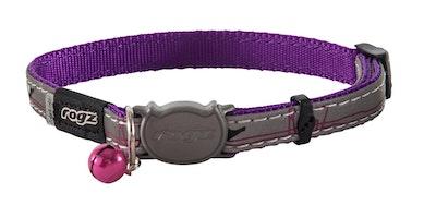 Rogz Nightcat Safeloc Collar Purple Budgie