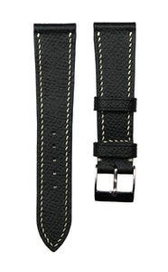 Artisan Straps - Epsom French Calf Leather Strap in Black