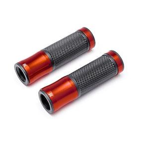 Retro Aluminium Grips - Dark Orange