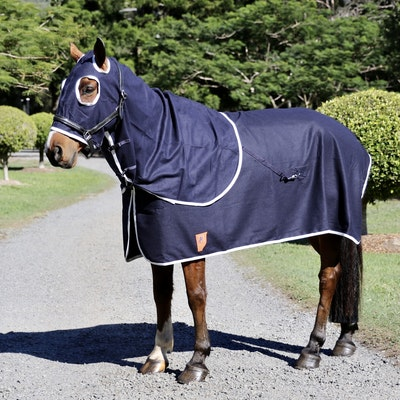 Capriole Equestrian Navy Wool Show Set