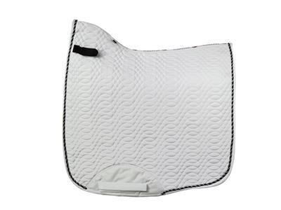 Kieffer Dressage Saddle Pad White with Cord
