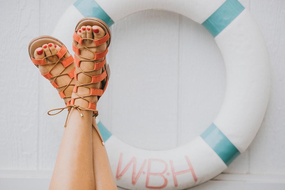 Bared Footwear Peach Sandals LENZO