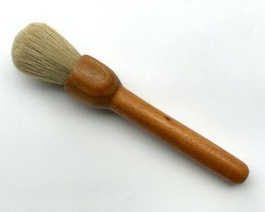 Basting brush and artist paint brush