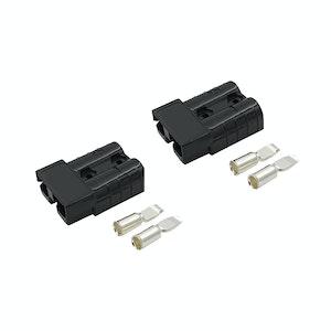 50 amp Anderson Style Plugs (Pair) Black inc Terminals