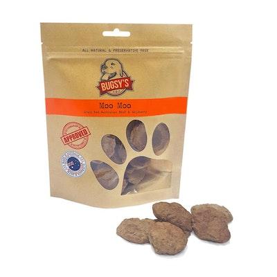 Bugsy's Pet Supplies FUNCTIONAL TREATS | Moo Moo (Grass Fed Australian Beef & Goji Berry)