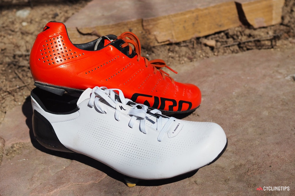 Specialized S Works Sub6 shoes Giro comparison