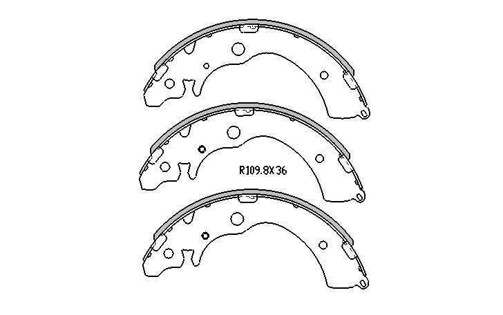 RDA BRAKE SHOES Honda CRV 9/1997-12/2001 REAR DRUM BRAKE