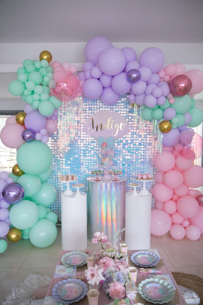 Mer-mazing mermaid under the sea theme first birthday party