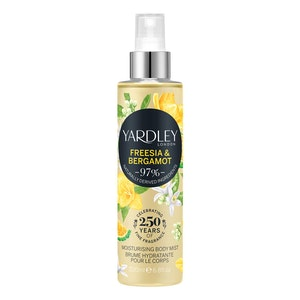 Yardley London Freesia & Bergamot Moisturising Body Mist Spray Fragrance 200ml