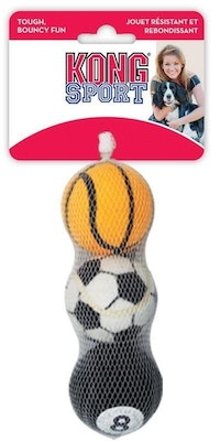 KONG Sports Ball Small Assorted Colours 3 Pack