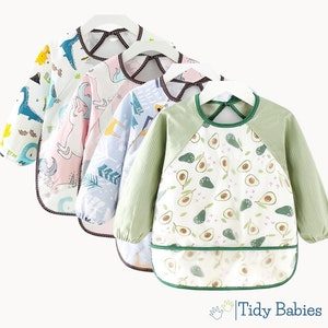 Tidy Babies  Toddler Long Sleeve Apron Smock Bib With Name Print