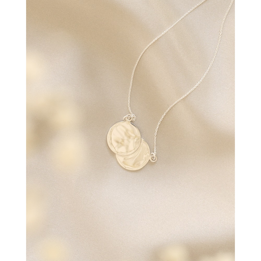 Jessica Alice Jewellery Sterling Silver Double Disc Necklace